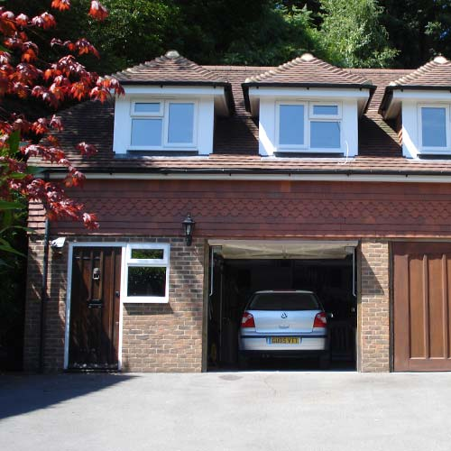 Garage of Sussex new build project